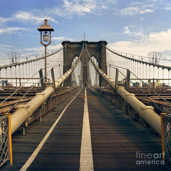 Brooklyn Art Print featuring the photograph Brooklyn Bridge by Istvan Kadar