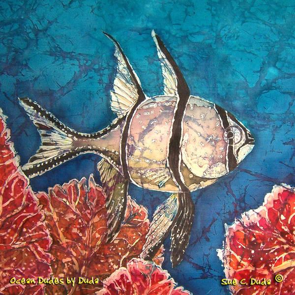 Cardinalfish Art Print featuring the painting Cardinalfish by Sue Duda