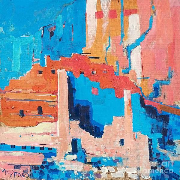 Chaco Art Print featuring the painting Chaco Canyon by Micheal Jones