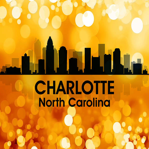 Charlotte Art Print featuring the mixed media Charlotte Nc 3 Squared by Angelina Tamez