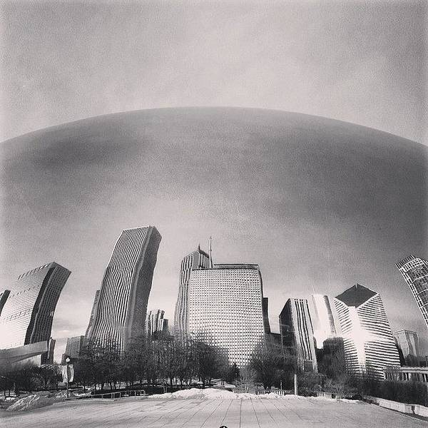 America Art Print featuring the photograph Cloud Gate Chicago Skyline Reflection by Paul Velgos