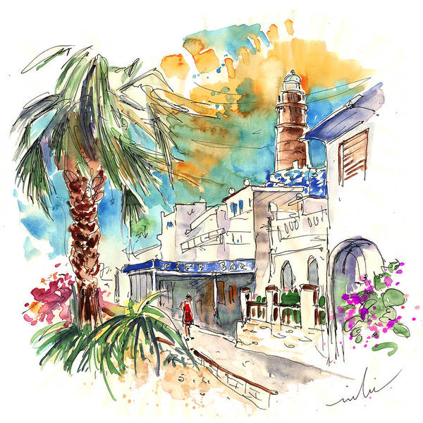 Travel Art Print featuring the painting Chipiona Spain 05 by Miki De Goodaboom
