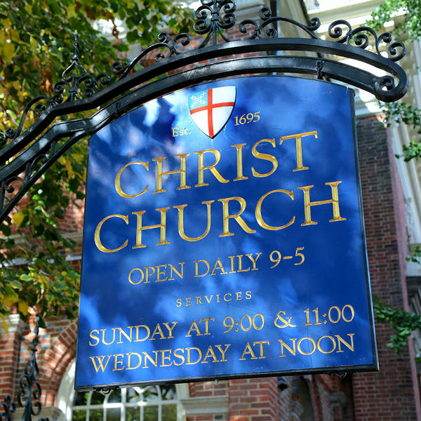 America Art Print featuring the photograph Christ Church Sign by Stephen Stookey