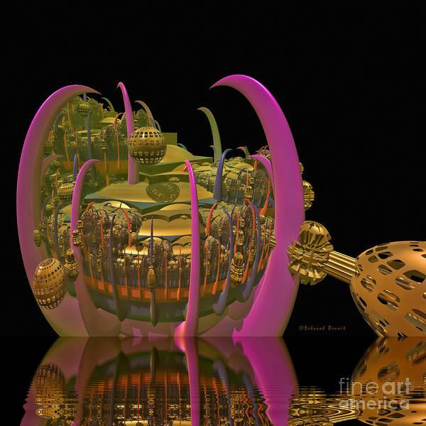 Digital Art Art Print featuring the digital art City 22 by Deborah Benoit