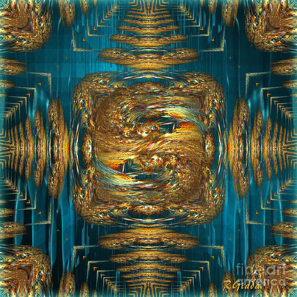 Coherence Art Print featuring the digital art Coherence - Abstract Art By Giada Rossi by Giada Rossi