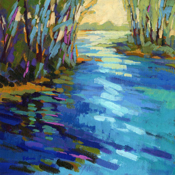 Salmon Art Print featuring the painting Colors Of Summer 9 by Konnie Kim