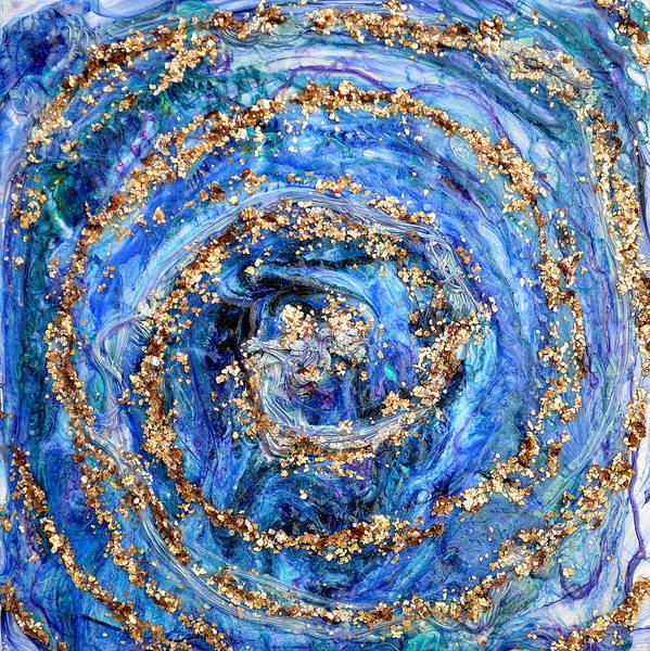 Whirlpool Art Print featuring the painting Coriolis 4 by Regina Valluzzi