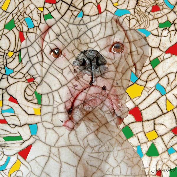 Dog Art Print featuring the digital art Crazed by Judy Wood
