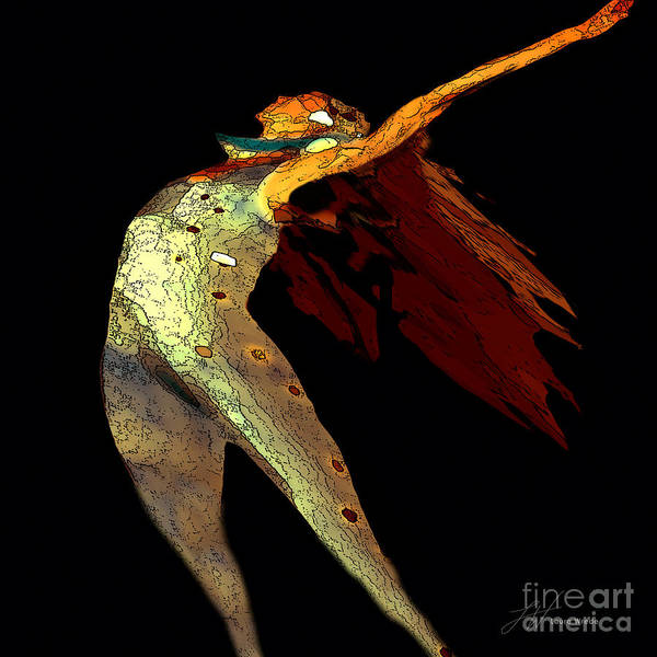 Dance Images Art Print featuring the painting Dance Free by Artist and Photographer Laura Wrede