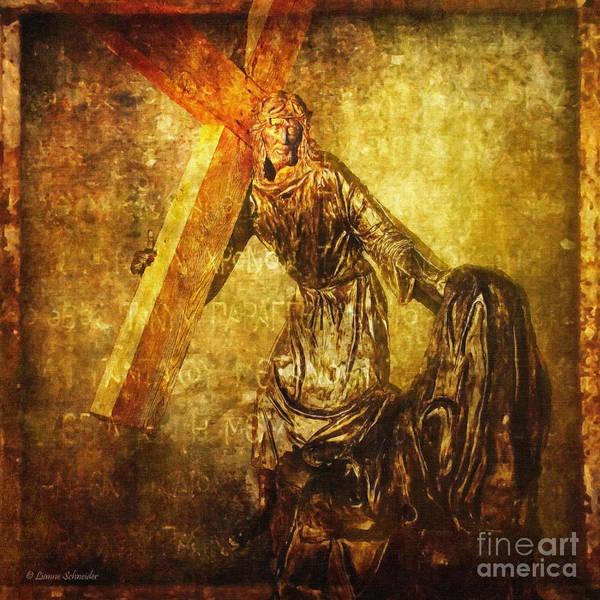 Jesus Print featuring the digital art Daughters Of Jerusalem Via Dolorosa 8 by Lianne Schneider