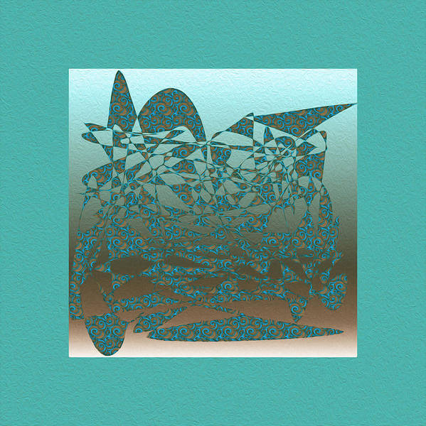 Delicate Turquoize Stroke Art Print featuring the digital art Delicate Turquoize Stroke by Mihaela Stancu