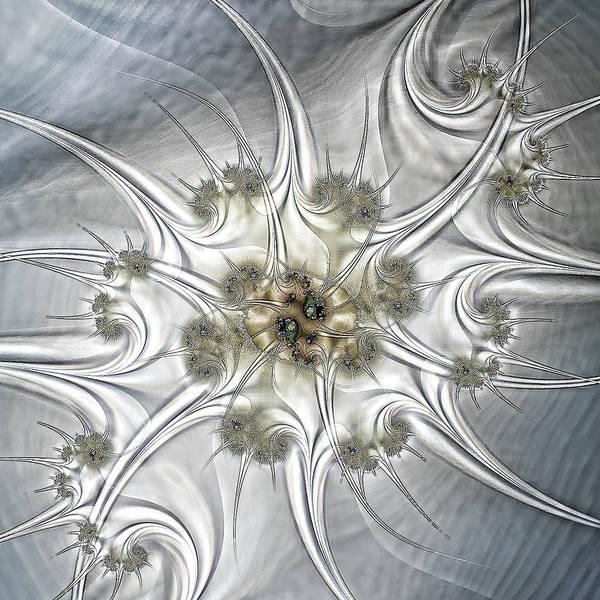 Silver Abstract Art Print featuring the digital art Diamonds by Sharon Lisa Clarke
