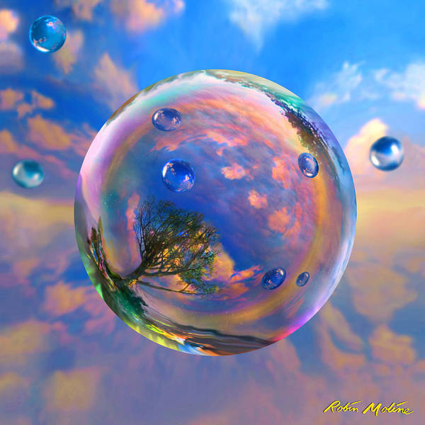Dreamscape Art Print featuring the painting Dream Bubble by Robin Moline