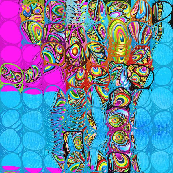Elephant Art Print featuring the digital art Elefantos - Av03-ps01 by Variance Collections
