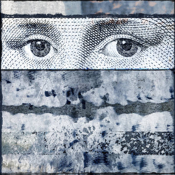 Collage Print featuring the photograph Eyes On Blue by Carol Leigh