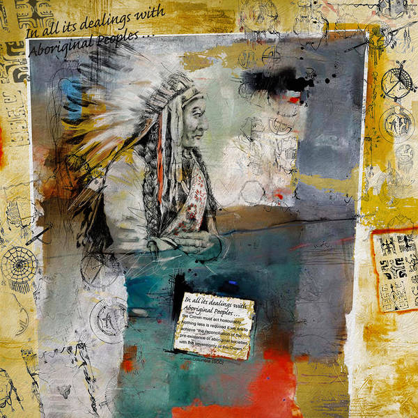Aboriginals Art Print featuring the painting First Nations 34 by Corporate Art Task Force