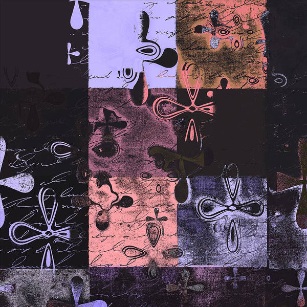 Abbstract Floral Digital Art Digital Art Print featuring the digital art Florus Pokus 02e by Variance Collections