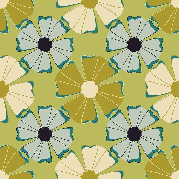 Posters Art Print featuring the digital art Flowers 3 by Lisa Noneman