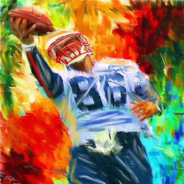 Quarterback Art Print featuring the digital art Football II by Lourry Legarde