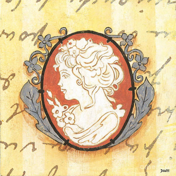 Cameo Art Print featuring the painting French Cameo 2 by Debbie DeWitt