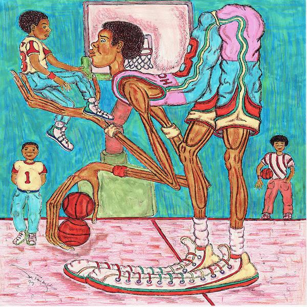 Hoops Art Print featuring the mixed media Futue Star by Richard Hockett
