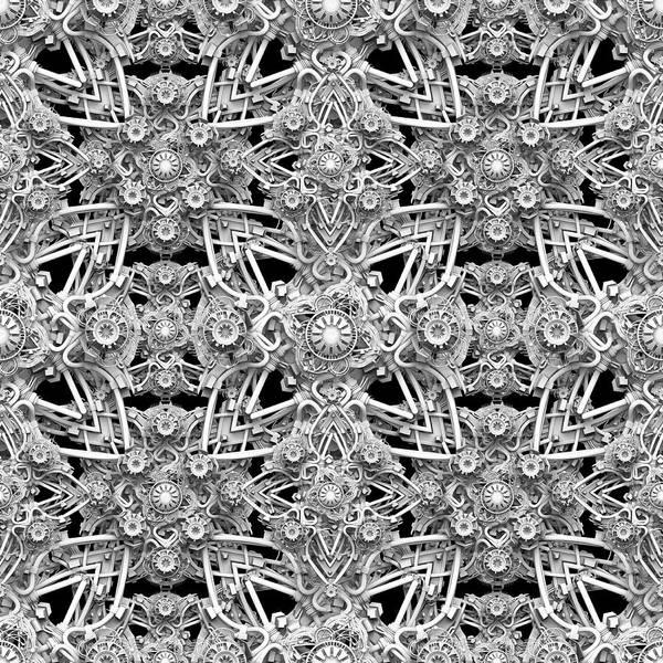 Geometric Art Print featuring the digital art Geo Tech Alpha One by Pixel Chemist