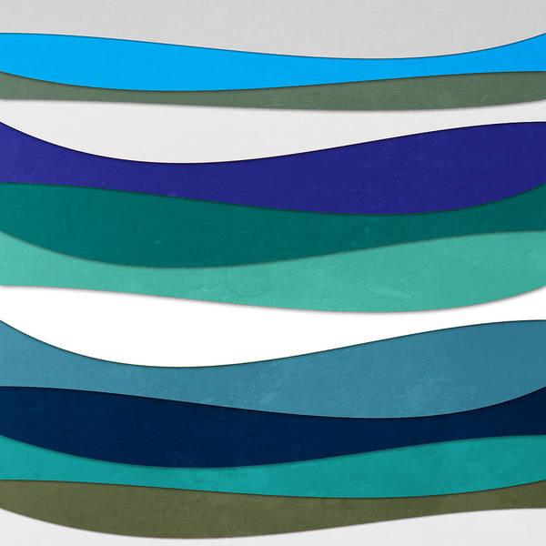 Contemporary Art Print featuring the digital art Geometric 16 by Mark Ashkenazi