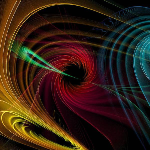 Geometric Art Print featuring the digital art Geometric 9 by Mark Ashkenazi