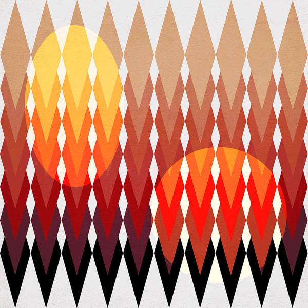 Contemporary Art Print featuring the digital art Geometric Fun by Mark Ashkenazi