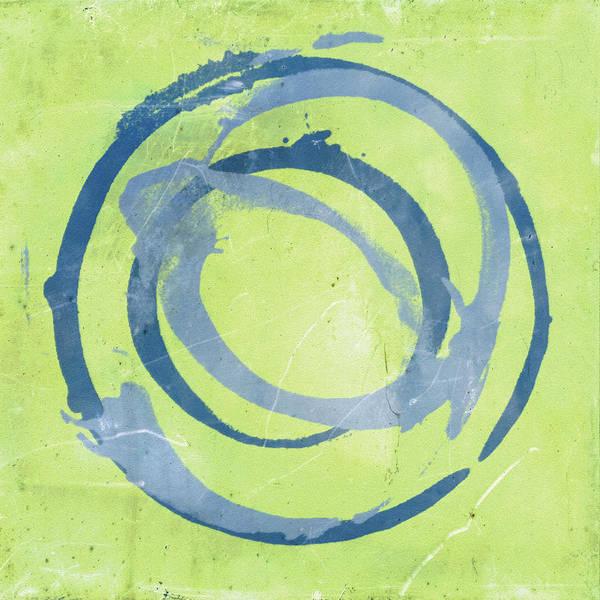 Green Art Print featuring the painting Green Blue by Julie Niemela