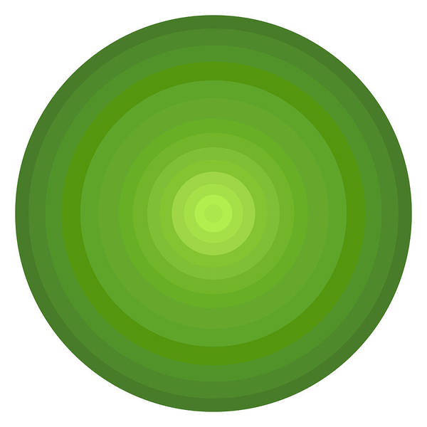 Green Circles Art Print featuring the painting Green Circles by Frank Tschakert