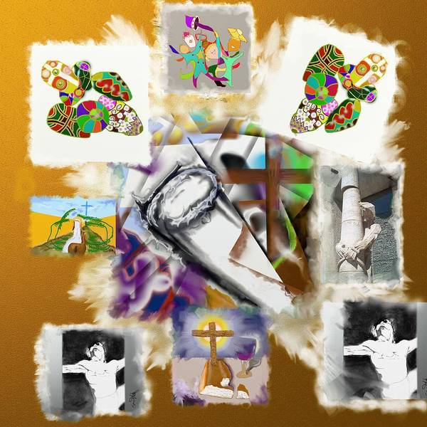 Easter Art Print featuring the painting Happy Easter by Eugene Foltuz