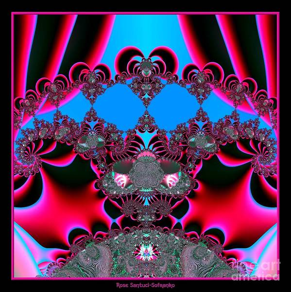 Hearts Art Print featuring the digital art Hearts Ballet Curtain Call Fractal 121 by Rose Santuci-Sofranko