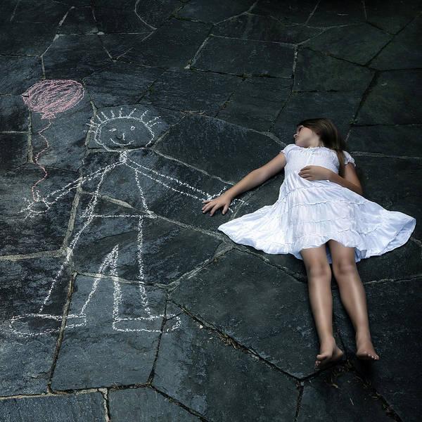 Girl Art Print featuring the photograph Imaginary Friend by Joana Kruse