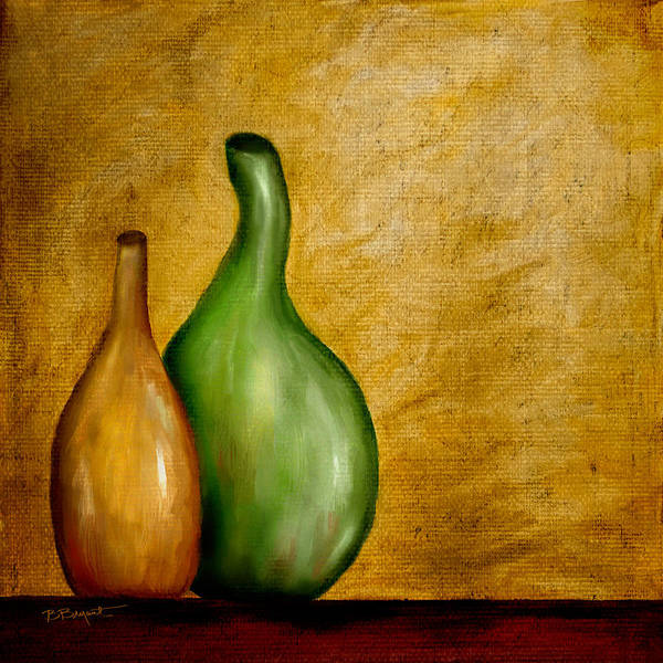 Vase Art Print featuring the painting Imperfect Vases by Brenda Bryant