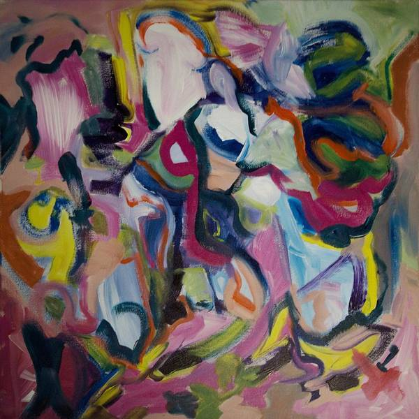 Jazz Art Print featuring the painting In Joy by Rashne Baetz