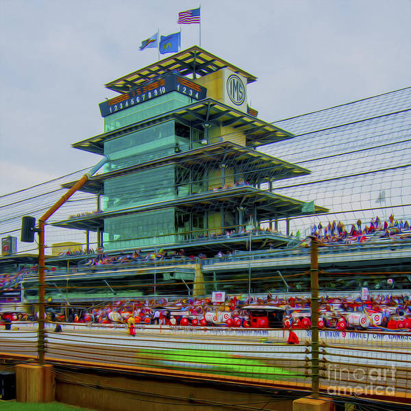 Indy 500 Art Print featuring the photograph Indianapolis 500 May 2013 Square by David Haskett