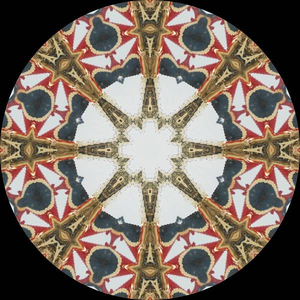 Kaleidoscope Art Print featuring the photograph Kaleidoscope Wheel by Cathy Lindsey