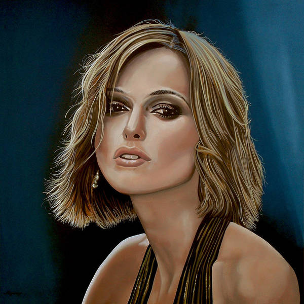 Keira Knightley Art Print featuring the painting Keira Knightley by Paul Meijering