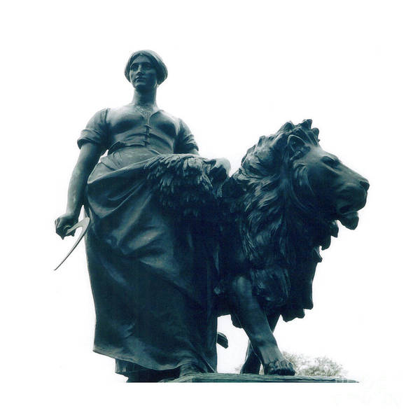 Lady Art Print featuring the photograph Lady And The Lion by Patricia Januszkiewicz