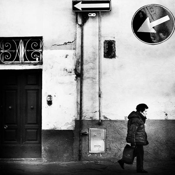 Sign Art Print featuring the photograph Left .... Absolutely! by Franco Maffei