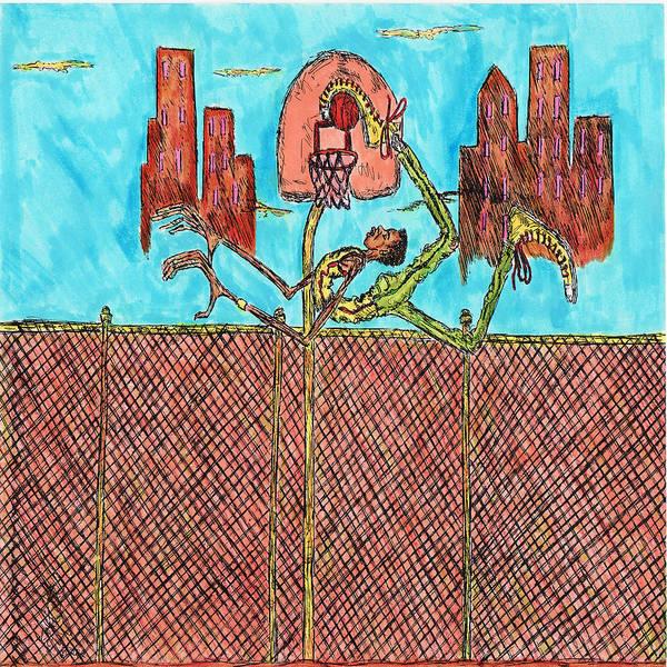 Hoop Art Print featuring the mixed media Leg Jam by Richard Hockett