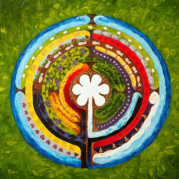 Mike Art Print featuring the painting Lenten Labyrinth by Mike Moyers