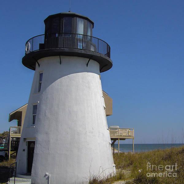 Lighthouse Art Print featuring the photograph Lighthose Fernandina Beach by Scott Moore
