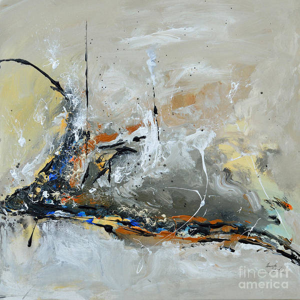 Limitless Art Print featuring the painting Limitless 1 - Abstract Painting by Ismeta Gruenwald