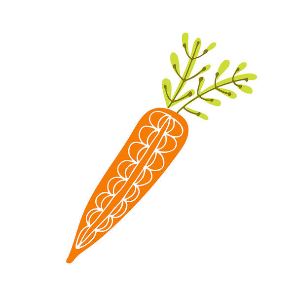Line Art Root Vegetable Hand Drawing Doodles Carrot On Transparent