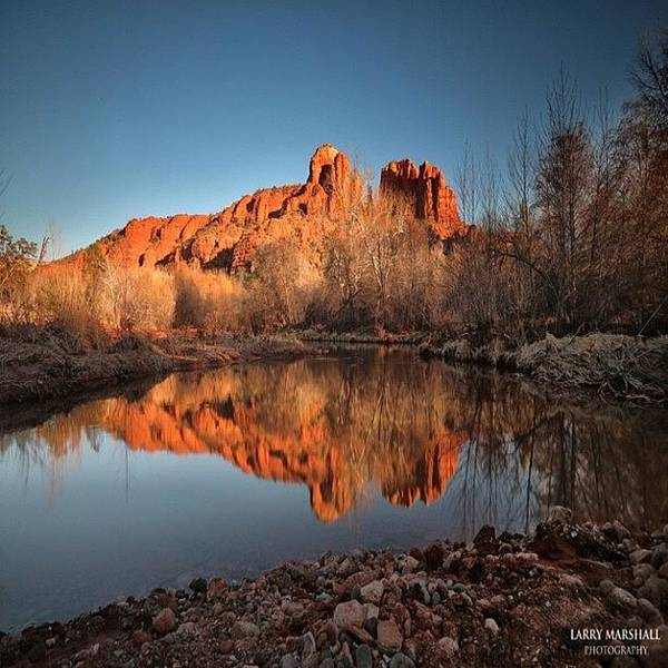 Art Print featuring the photograph Long Exposure Photo Of Sedona by Larry Marshall