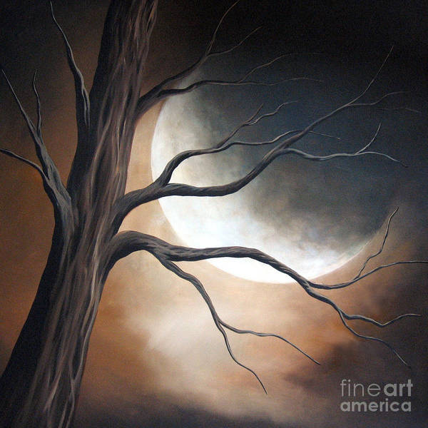 Tree Art Print featuring the painting Lost In Your Beauty By Shawna Erback by Shawna Erback