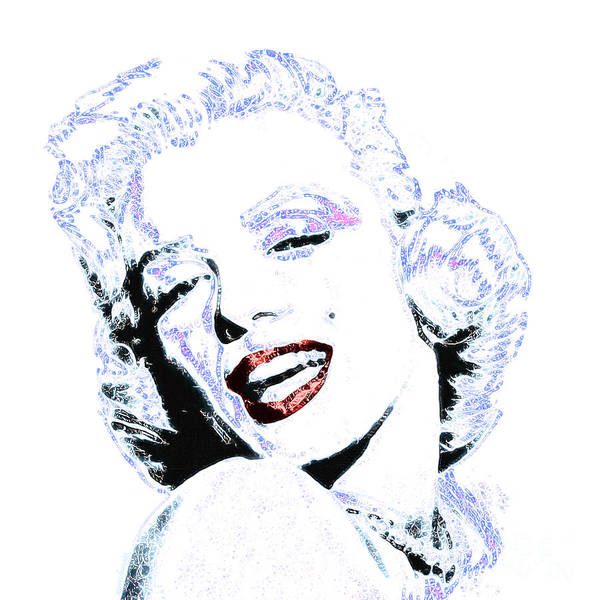 Marilyn Art Print featuring the photograph Marilyn Monroe 20130331 Square by Wingsdomain Art and Photography