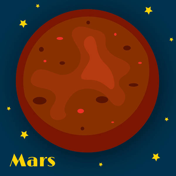 Mars Art Print featuring the digital art Mars by Christy Beckwith